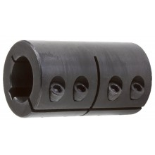 Shaft coupling 1-piece steel C45 slotted with groove