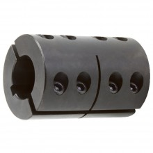Shaft coupling 2-piece steel C45 - with groove